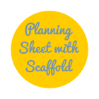 planning sheet with scaffold