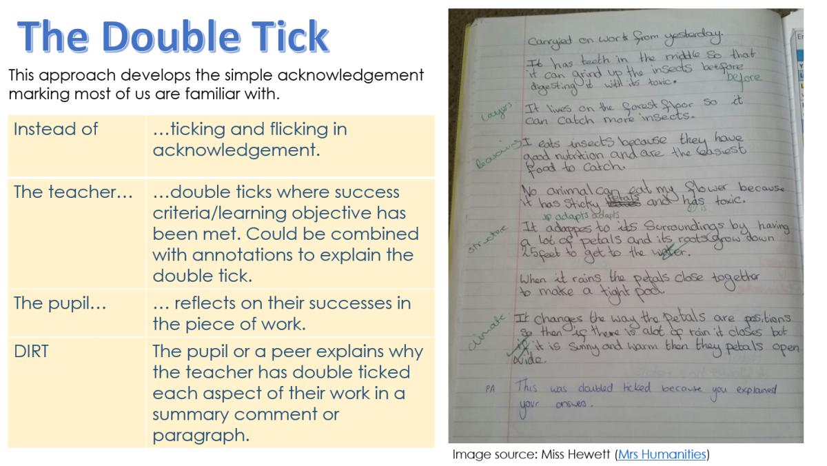 double tick marking DIRt