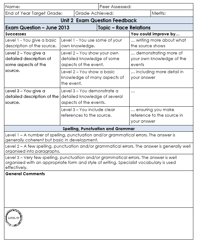 GCSE graded work
