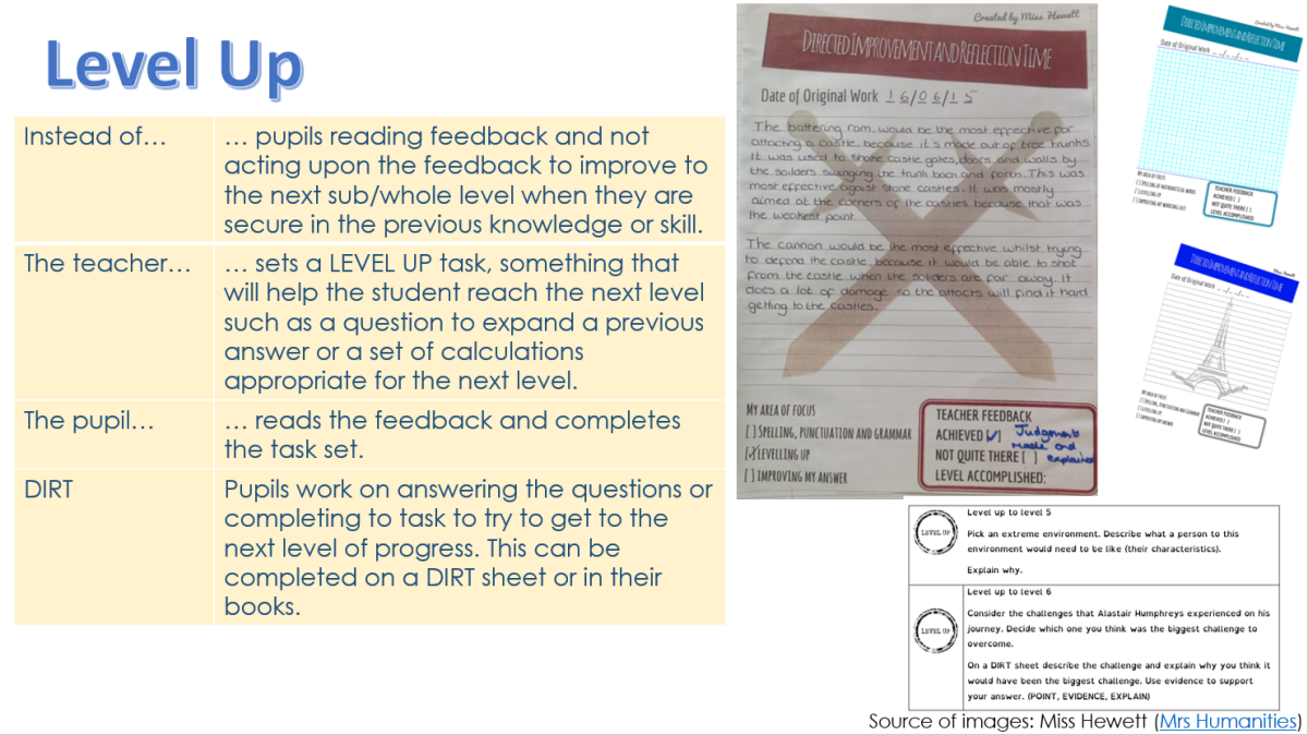level up marking DIRT