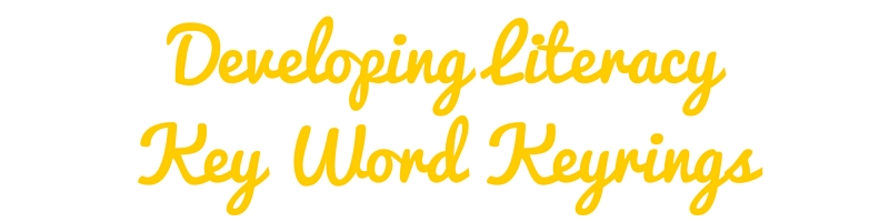 developing literacy key word keyrings