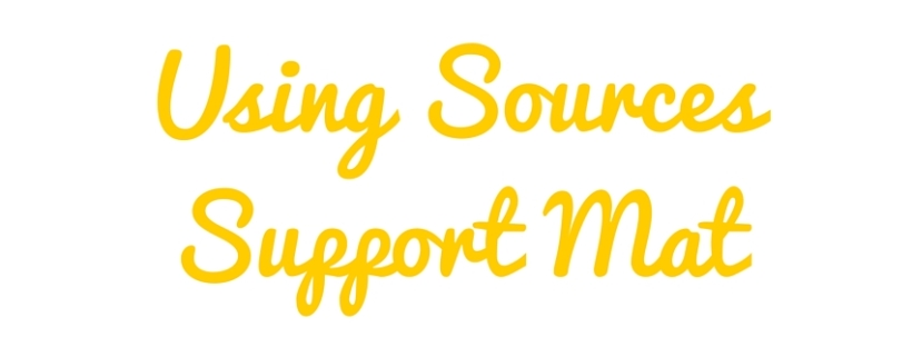 Using Sources Support Mat