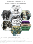 suffragette protest and publicity visual hexagon