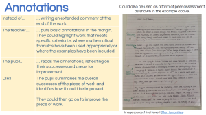annotations marking