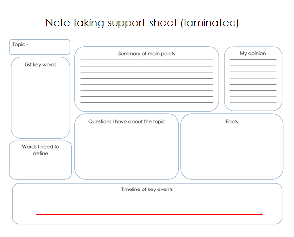 independent learners note taking