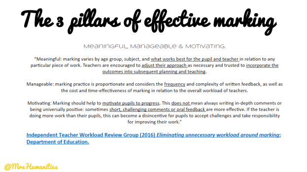 3 pillars of effective marking, less is more feedback
