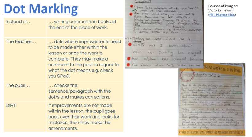 Less is More – Marking with a Purpose   Mrs Humanities