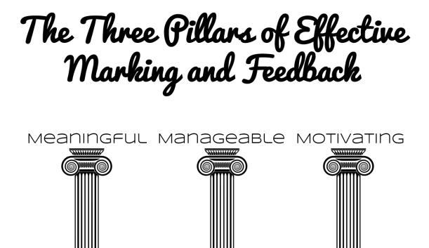 3 pillars of effective marking and feedback