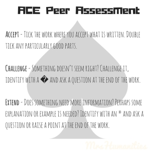 ACE Peer assessment