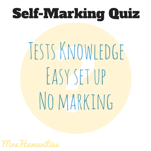 Self marking quizzes